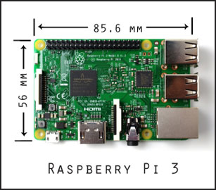 A Raspberry Pi 3: the embedded computer for the next iteration
